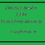 J. John visits Liberty University